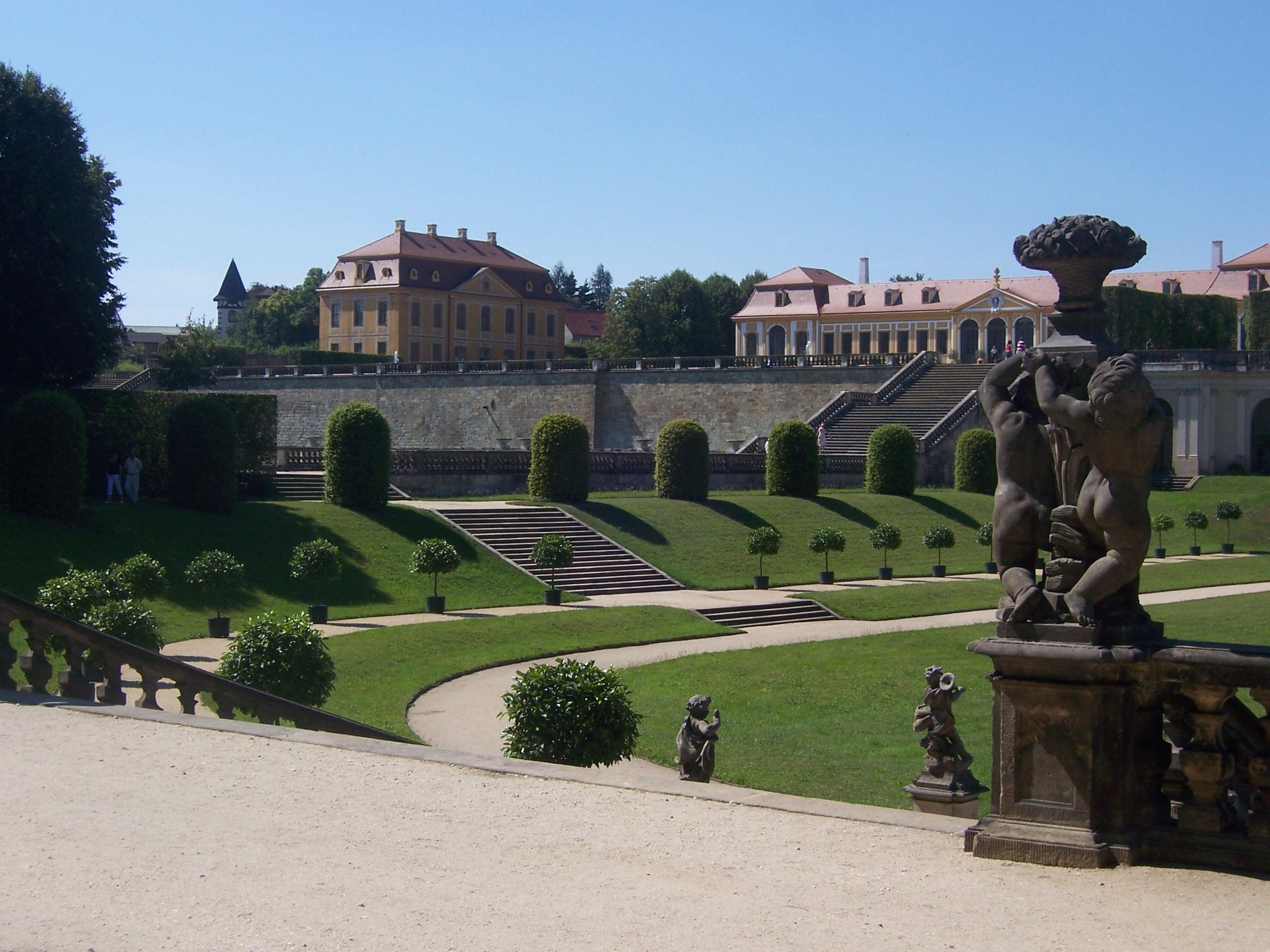 Barockgarten Großsedlitz mit Friedrichschlösschen