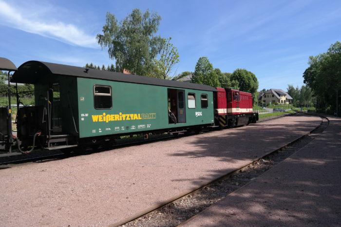 Weißeritztalbahn am Bahnhof Malter