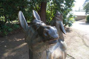 Fabelfiguren im Stadtpark Hainichen