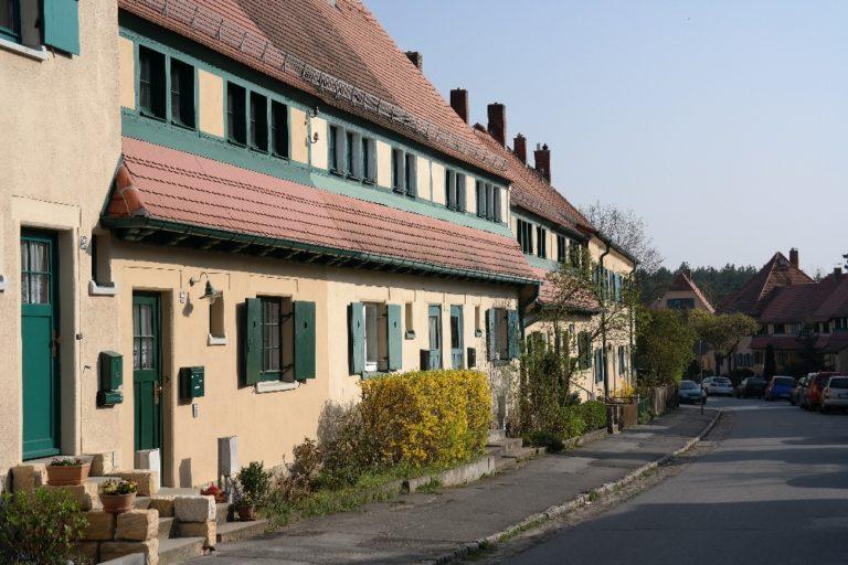 typisches Reihenhaus in Hellerau