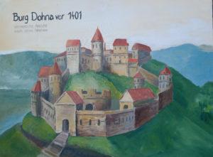 alte Ansicht von der Burg Dohna
