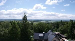 Panorama vom Kuhberg mit Kuhbergbaude