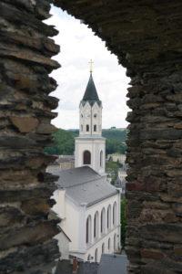 Blick auf die Laurentiuskirche Elsterberg