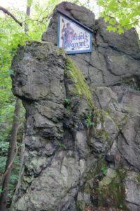 Teufelskanzel am Eingang ins Nymphental