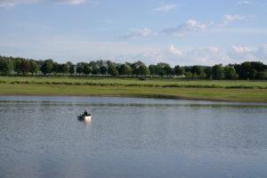 Angler auf der Talsperre Pöhl