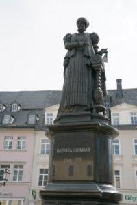 Barbara-Uthmann-Brunnen in Annaberg-Buchholz