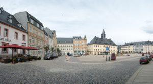 Marktplatz mit Rathaus in Annaberg-Buchholz