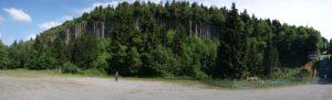 Orgelpfeifen am Scheibenberg im Erzgebirge