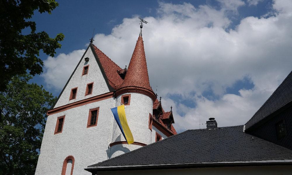 Schloss Schlettau an der alten Salzstraße