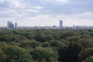Blick auf Leipzig vom Rosentalturm
