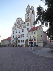 Renaissance-Rathaus aus Oschatz