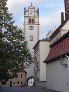 Durchgang des Rathausturm Oschatz