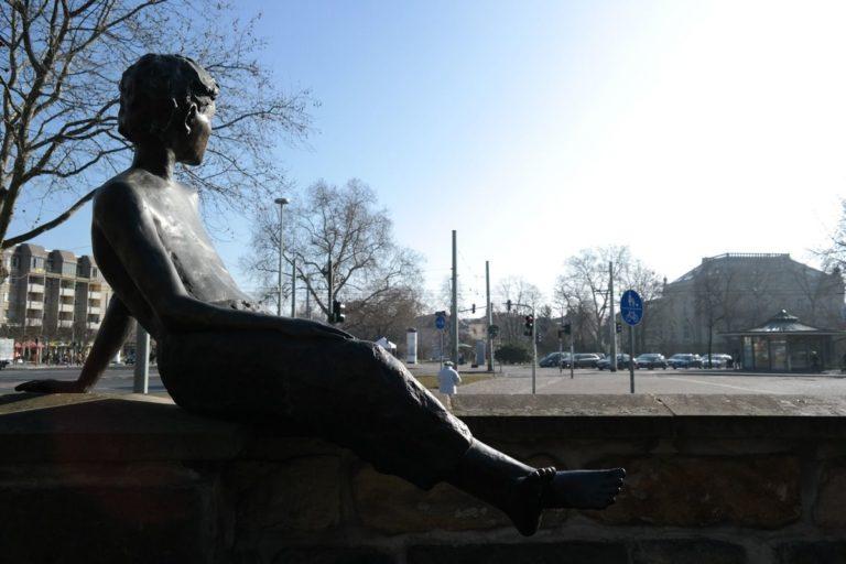 Erich Kästner am Albertplatz