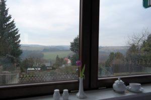 Blick vom Wintergarten des Hotel König-Albert-Höhe in Rabenau