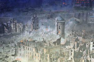 Die zerstörte Frauenkirche im Panometer von Yadegar Asisi