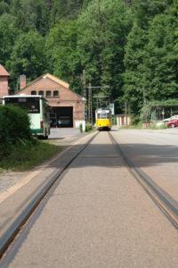 Kirnitzschtalbahn am Depot
