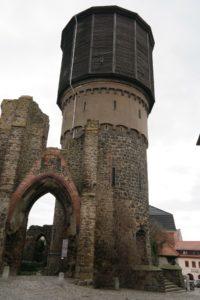 Wasserturm mit Mönchskirche in Bautzen
