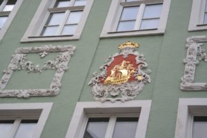 verziertes Wappen in Bautzen