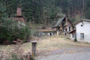 Ruine im Kirnitzschtal nahe des Beuthenfall