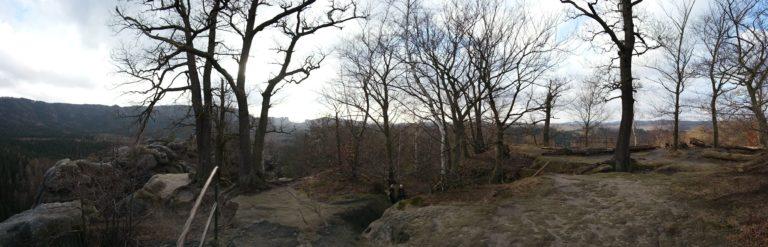 Blick vom Neuen Wildenstein auf die Hintere Sächsische Schweiz