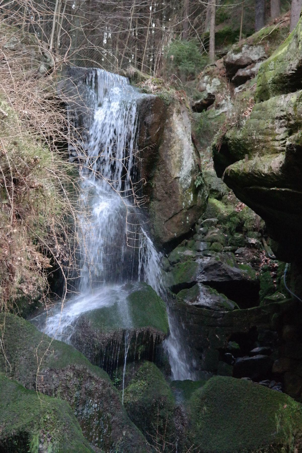 Der Wasserfallzieher Am Lichtenhainer Wasserfall