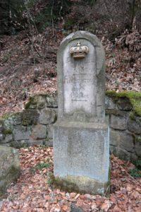 Historische Wegsäule im Kirnitzschtal