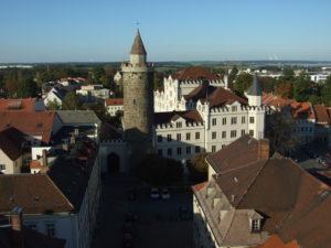 Blick auf den Wendischen Turm in Bautzen