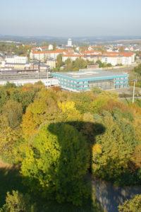 Blick vom Bärensteinturm in Plauen