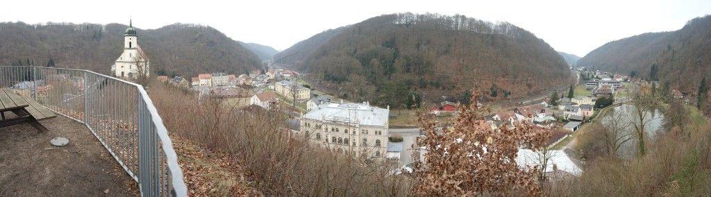 Blick von der Burgruine Tharandt