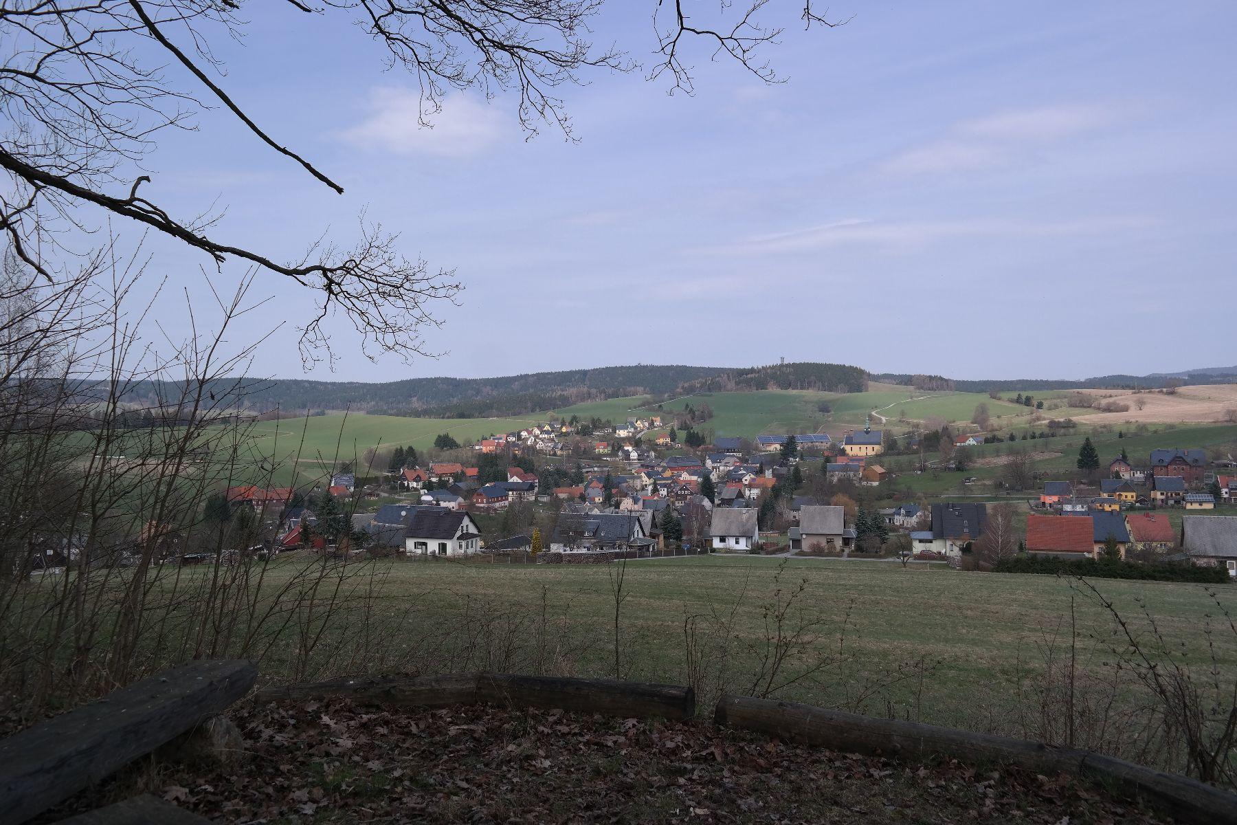 Blick von der Waldhusche auf Hinterhermsdorf