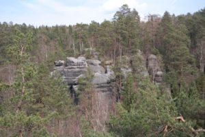 Blick von den Brüdersteinen in der Sächsischen Schweiz