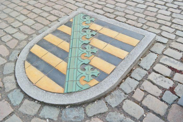 Wappen von Sachsen in Colditz