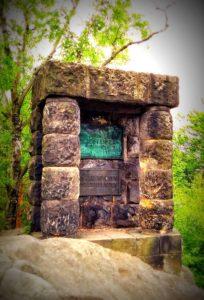 Bergsteigerdenkmal auf der Hohen Liebe