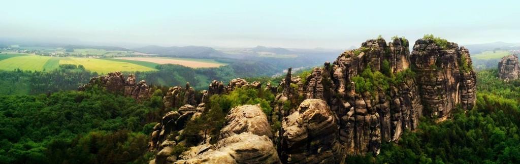 Schrammsteinaussicht Richtung Bad Schandau