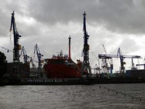 ... Oder malochen bei Blohm & Voss ... Ein Highlight für mich: Der Hamburger Hafen