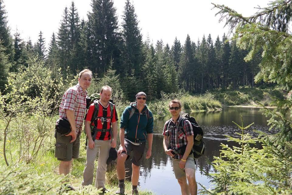 Ich und meine drei Freunde Etienne, Jonas und Alexander (v.l.)