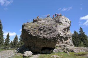 Besucher auf dem Schneckenstein