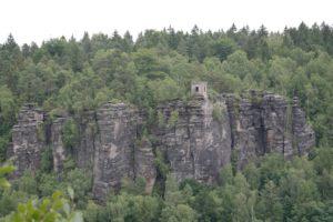 Blick vom Sachsenstein auf die Kaiser-Wilhelm-Feste