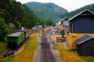 Bahnhof der Zittauer Schmalspurbahn in Oybin