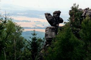 Felsgebilde Eule im Zittauer Gebirge