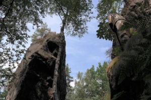 Holzstatue am Bärloch