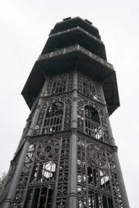 Gusseiserner König-Friedrich-August-Turm auf dem Löbauer Berg