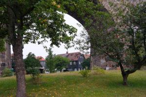 Umgebindehaus am Viadukt in Obercunnersdorf
