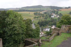 Blick vom Schloss Wolkenstein