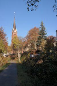 Mulderadweg in Aue