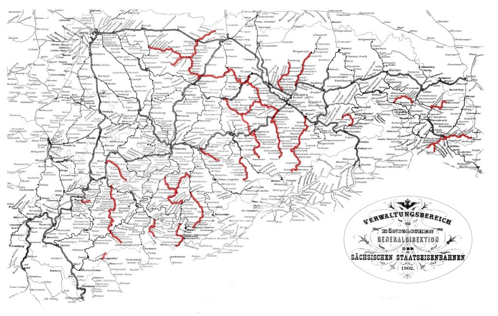 Schmalspurbahnen in Sachsen