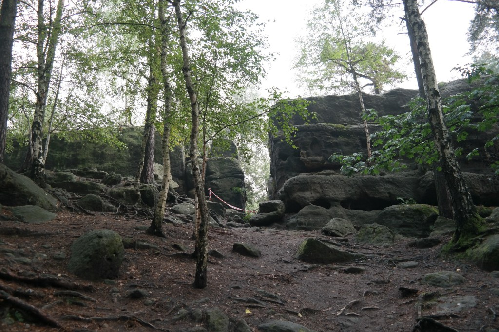 Eingang ins Langenhennersdorfer Labyrinth