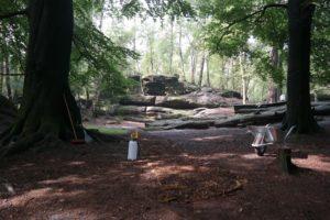 """Dreharbeiten zum """"Kalten Herz"""" im Langenhennersdorfer Labyrinth"""