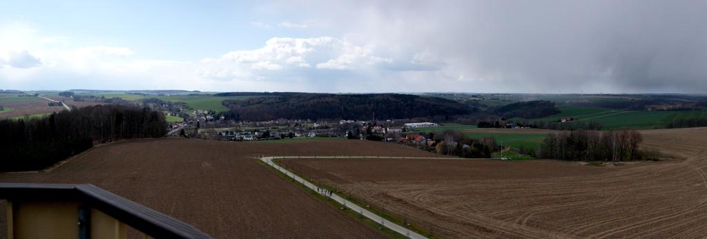 Blick vom Aussichtsturm in Böhrigen