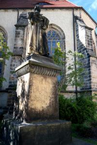 Vor der Stadtkirche St. Marien und Laurentius in Dippoldiswalde